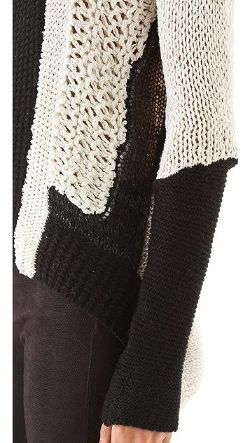 Helmut Lang Colorblock Turtleneck Sweater