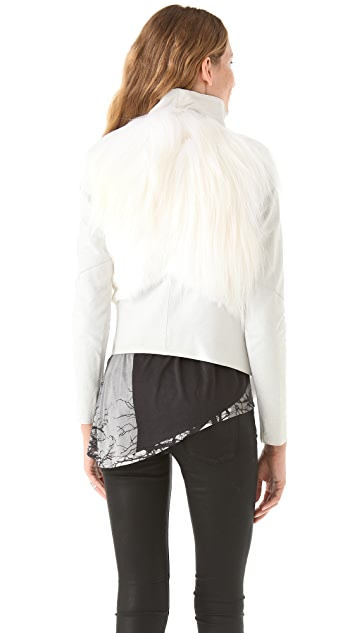 Helmut Lang Ironed Goat Hair Jacket