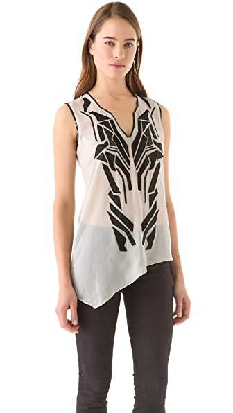 Helmut Lang Lyra Applique Top