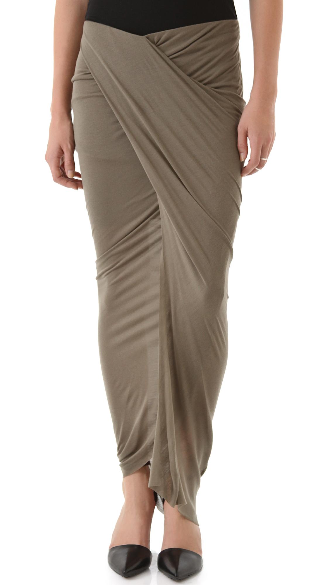 8458d5420a Helmut Lang Slack Jersey Wrap Skirt | SHOPBOP