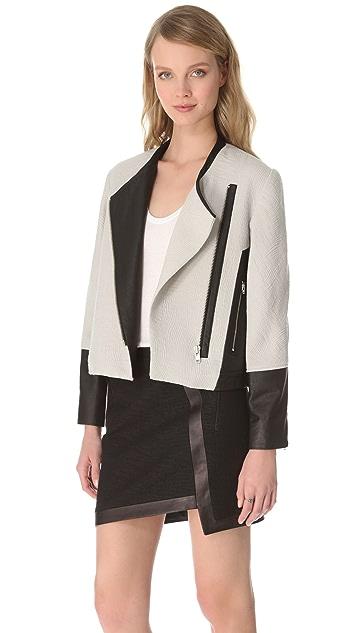 Helmut Lang Jacquard Oversized Jacket