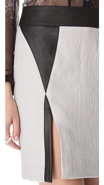 Helmut Lang Striped Jacquard Skirt