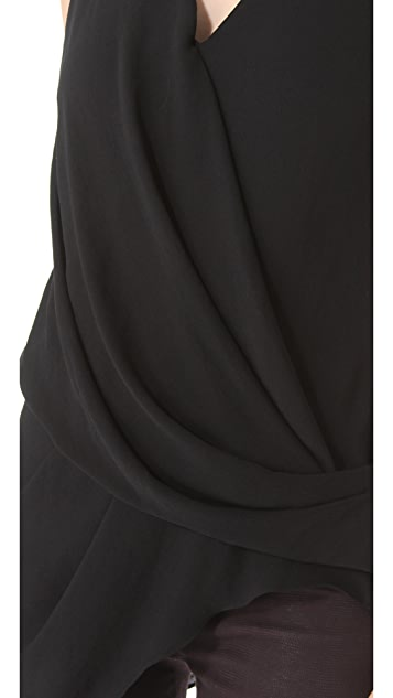 Helmut Lang Soft Shroud Overlap Top