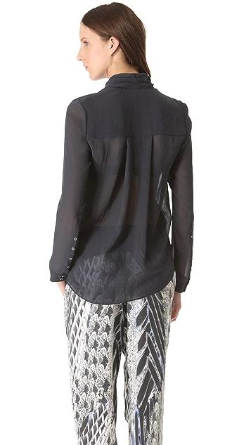 Helmut Lang Lyra Pocket Drape Shirt