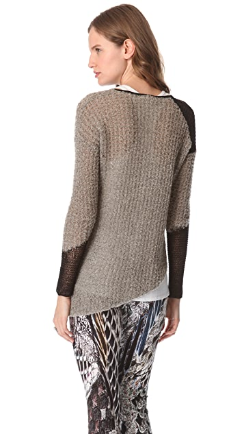 Helmut Lang Flecked Boucle Sweater