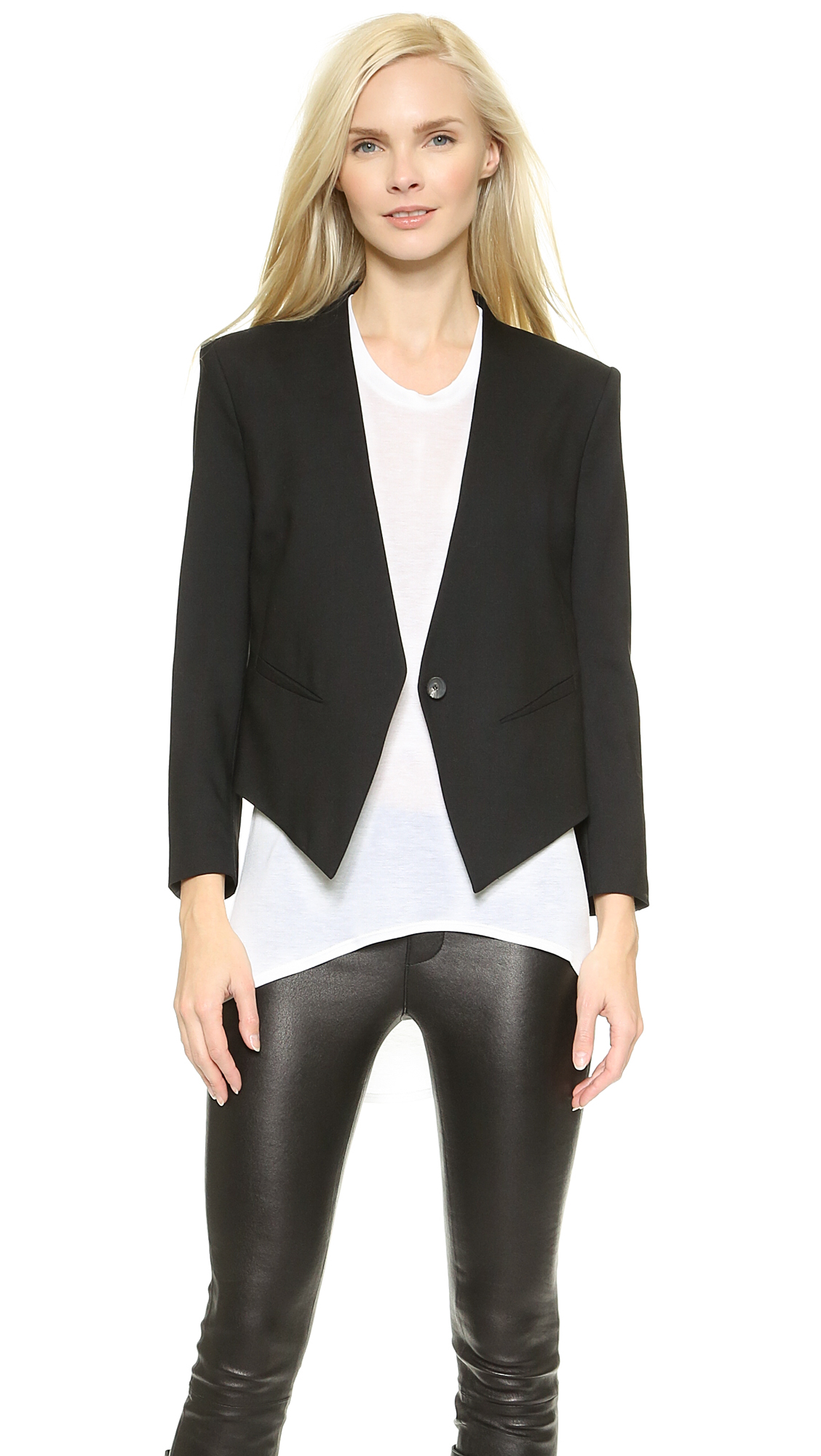 Helmut Lang Smoking Tux Blazer - Black