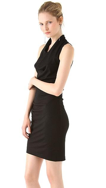 Helmut Lang Sonar Wool Sleeveless Dress