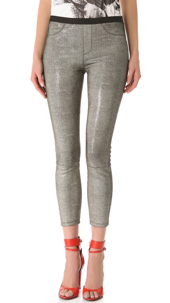 Helmut Lang Rift Leather Leggings