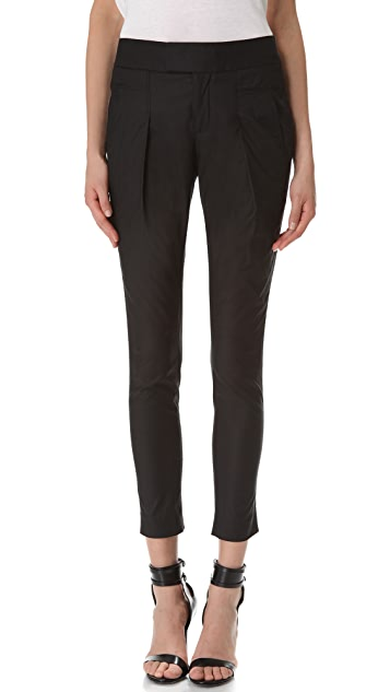 Helmut Lang Lacquered Cotton Trousers