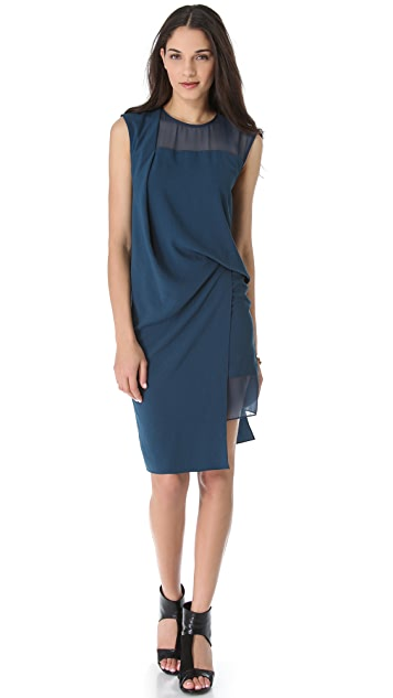 Helmut Lang Fluid Crepe Dress