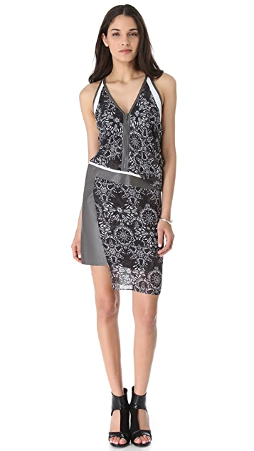 Helmut Lang Medallion Rubber Print Dress