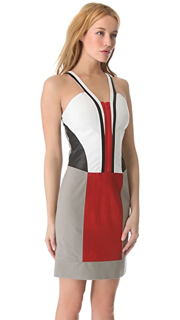 Helmut Lang Zip Front Canvas Dress