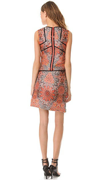 Helmut Lang Medallion Jacquard Dress