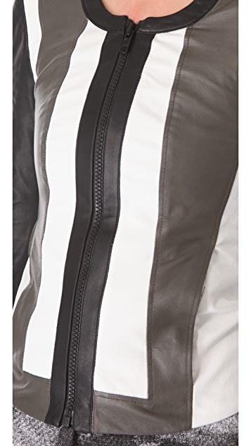 Helmut Lang Pax Leather Combo Jacket