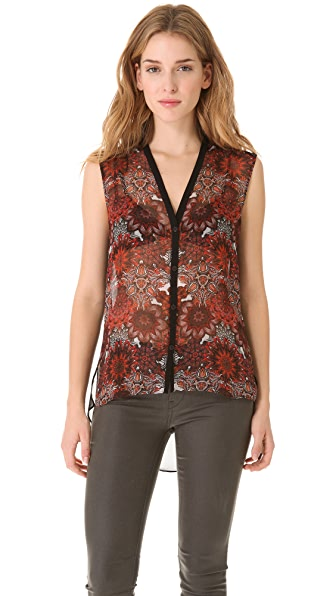Helmut Lang Mandala Print Sleeveless Top