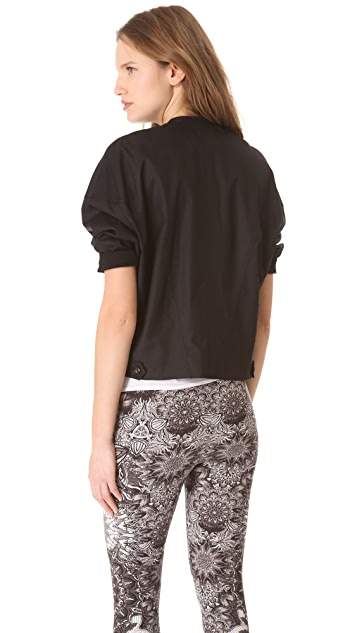 Helmut Lang Lacquered Cotton Overlap Jacket