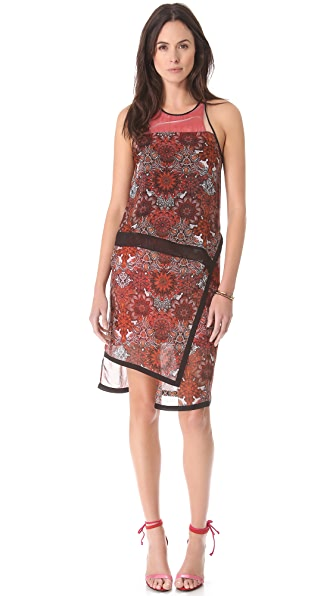 Helmut Lang Mandala Print Layer Dress