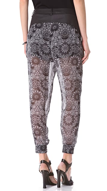 Helmut Lang Mandala Print Pants