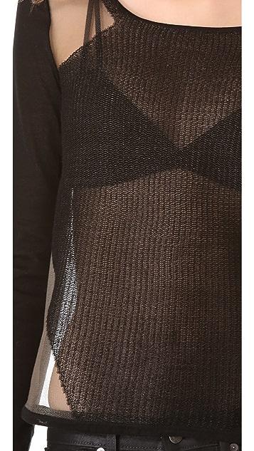 Helmut Lang Transparent Grid Pullover