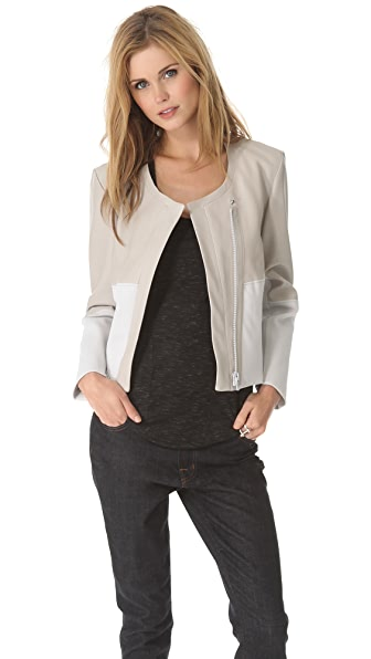 Helmut Lang Motion Leather Combo Jacket