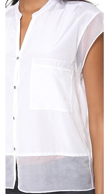 Helmut Lang Paneled Button Shirt