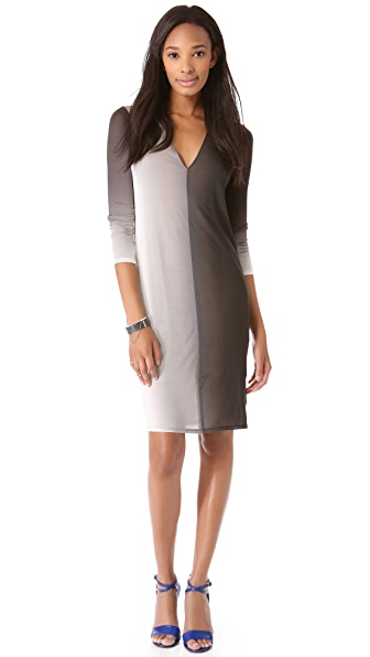 Helmut Lang Shadow Ombre Jersey Dress