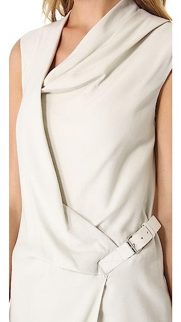 Helmut Lang Drape Front Dress