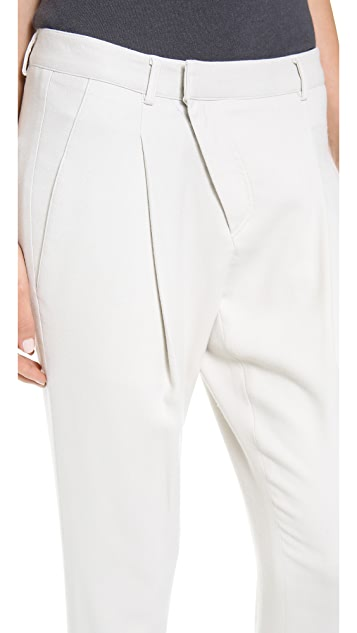 Helmut Lang Side Zip Cross Front Pants