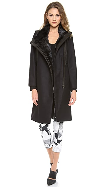 Helmut Lang Fur Collar Coat