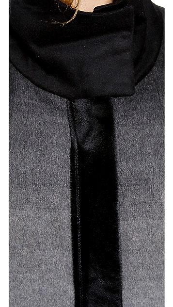 Helmut Lang Funnel Neck Ombre Jacket