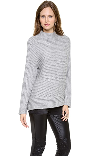 Helmut Lang Textured Turtleneck Top