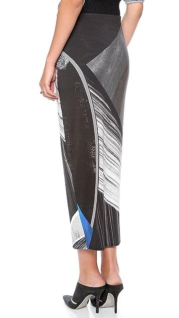 Helmut Lang Fracture Print Skirt