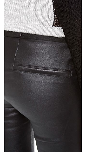 Helmut Lang Stretch Plonge Leather Leggings