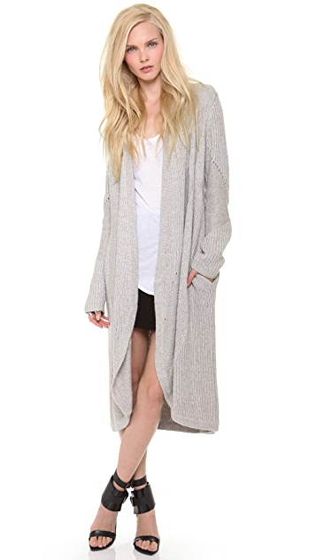 Helmut Lang Long Textured Cardigan