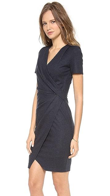 Helmut Lang Sonar Wool Drape Dress