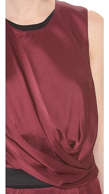 Helmut Lang Quantum Drape Overlap Dress