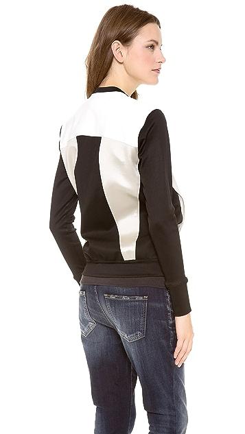Helmut Lang Gloss Knit Baseball Jacket