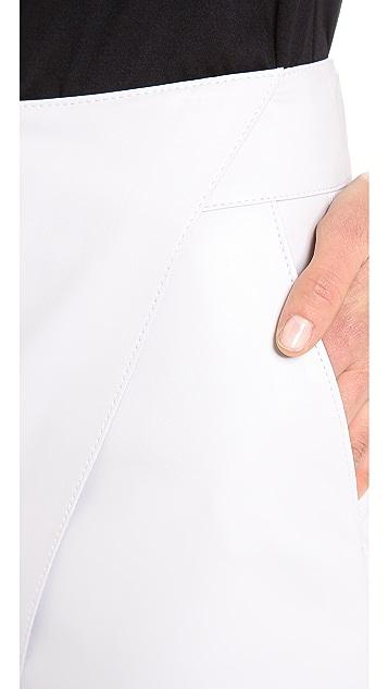 Helmut Lang Bonded Leather Miniskirt