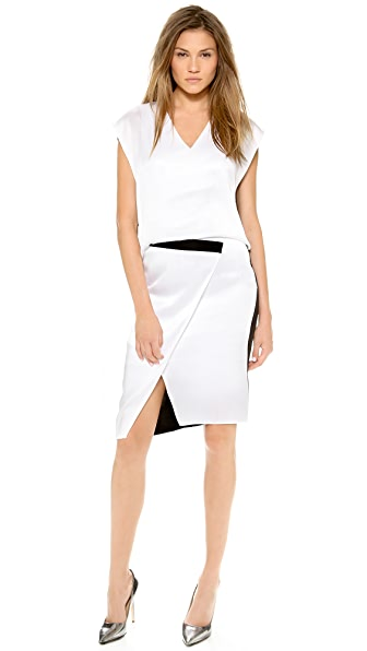 Helmut Lang Contrast Dress