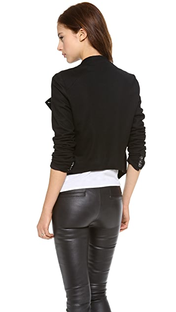 Helmut Lang Cropped Sonar Wool Jacket