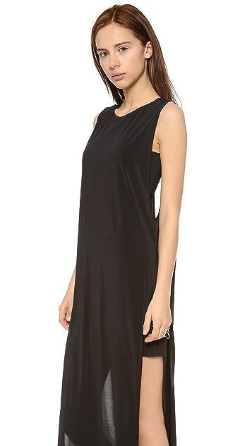 Helmut Lang High Slit Cutout Dress