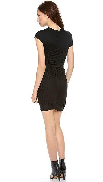 Helmut Lang V Neck Twist Dress