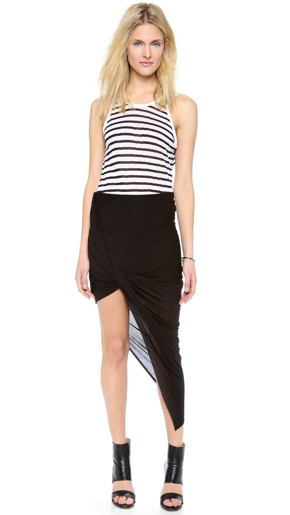 c0ad308e9a Helmut Lang Asymmetrical Wrap Skirt | SHOPBOP
