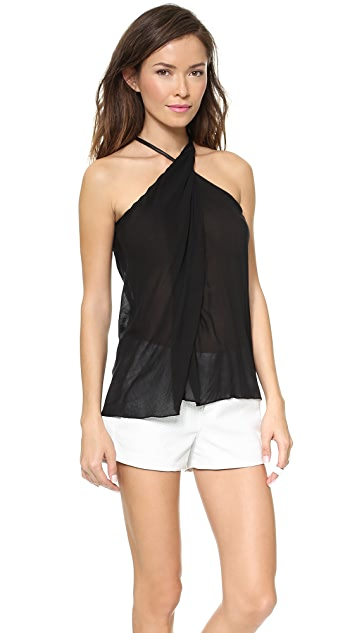Helmut Lang Twist Neck Top