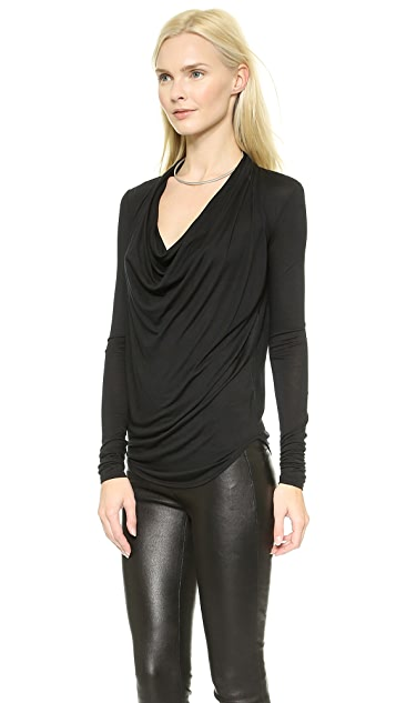 Helmut Lang Kinetic Jersey Long Sleeve Top