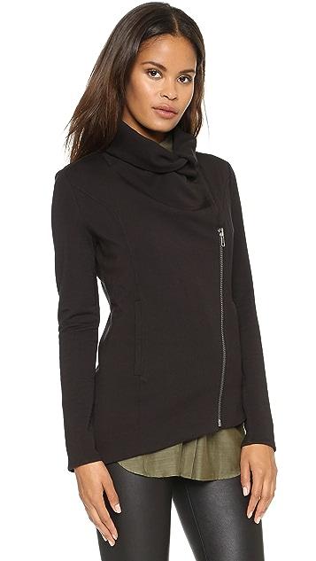 Helmut Lang Villous Sweatshirt Zip Jacket