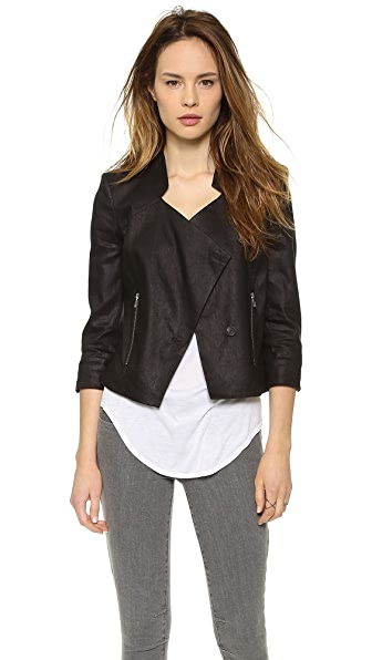 Helmut Lang Glossy Linen Twill Jacket