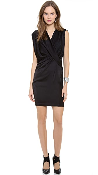 Helmut Lang Sleeveless Drape Dress