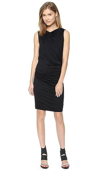 Helmut Lang Crossover Drape Dress