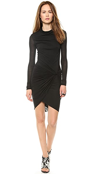 Helmut Lang Twist Long Sleeve Dress
